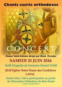 Un concert du choeur Saint-Siméon à Laval au profit du monastère de Bois-Salair