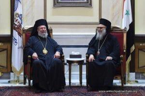 L'archevêque de Chypre Chrysostome II s'est rendu en Syrie