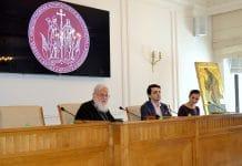 Rencontre avec le métropolite Calliste (Ware) à l'Institut des Hautes Études «Saints Cyrille et Méthode» à Moscou