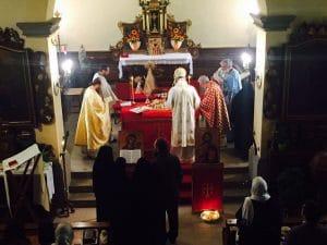 Fête du monastère orthodoxe roumain de la Protection-de-la-Mère de Dieu aux Sciernes d'Albeuve (Suisse)