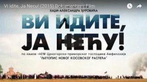 «Vous, partez, moi, je reste!» – film documentaire sur le Kosovo