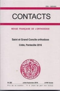 Un volume de « Contacts » sur le saint et grand Concile orthodoxe de Crète (Pentecôte 2016)