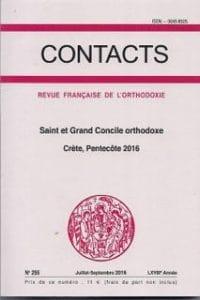 Un volume de «Contacts» sur le saint et grand Concile orthodoxe de Crète (Pentecôte 2016)