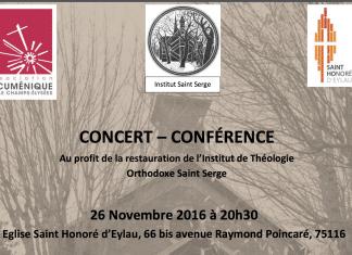 26 novembre – Conférence-concert au profit de l'Institut Saint Serge