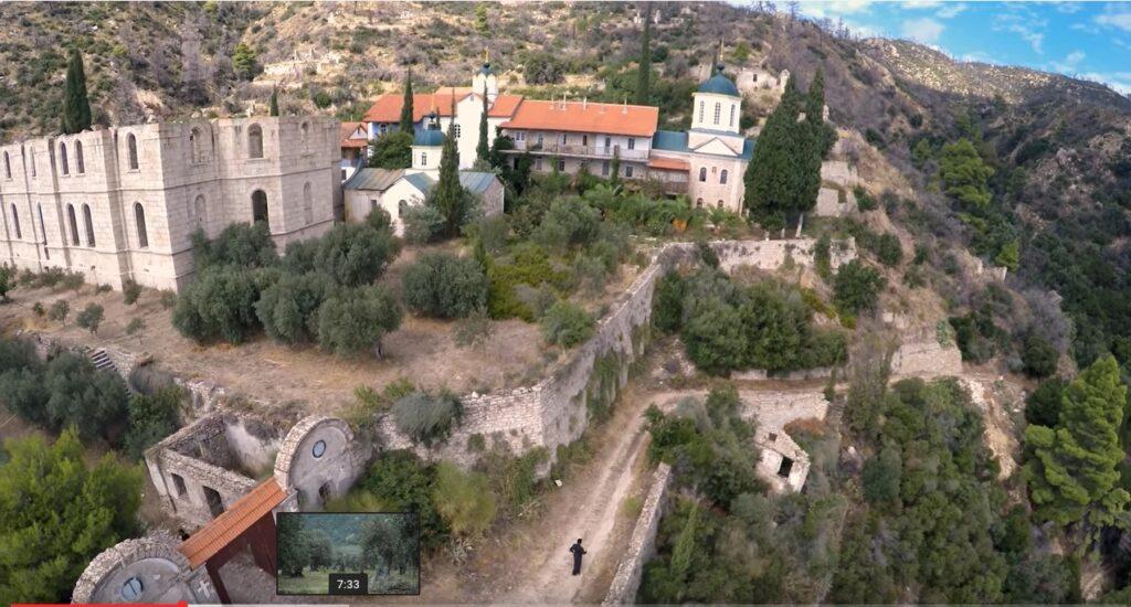 Le Mont Athos vu depuis un drône