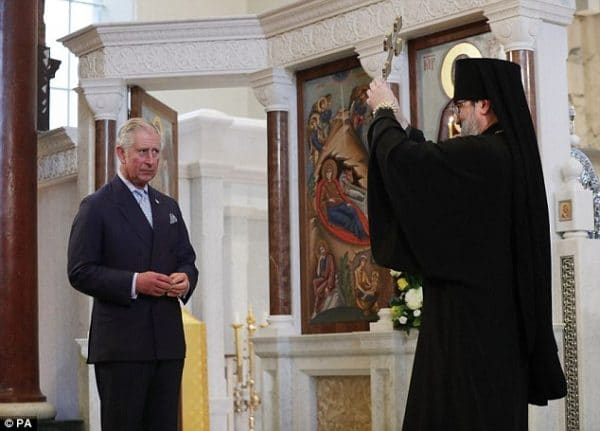 Le prince Charles a assisté à un office d'intercession en la cathédrale orthodoxe russe de la Dormition à Londres