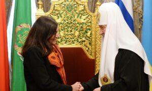 Rencontre du patriarche Cyrille avec le maire de Paris, Anne Hidalgo