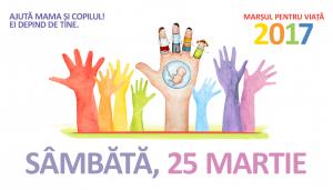 La «marche pour la vie» aura lieu le 25 mars 2017 en Roumanie et en République de Moldavie