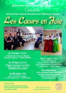La tournée en France de la chorale « Les coeurs en joie » du 18 au 21 mai