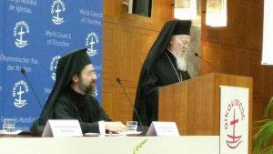 Le discours du patriarche Bartholomée, le 24 avril au Conseil oecuménique des Eglises