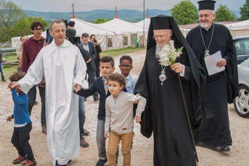 Visite du patriarche oecuménique Bartholomée à Taizé