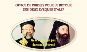 Office de prières pour le retour des évêques d'Alep – le samedi 22 avril à 17h à Vaucresson