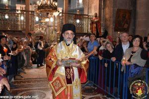 L'office des vêpres de Pâques à Jérusalem