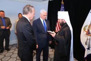 Le métropolite Hilarion de Volokolamsk a rencontré Mike Pence, vice-président des États-Unis