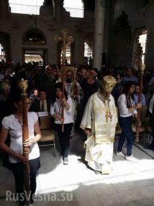 Le premier office depuis six ans a eu lieu en l'église orthodoxe de Zabadani (Syrie)
