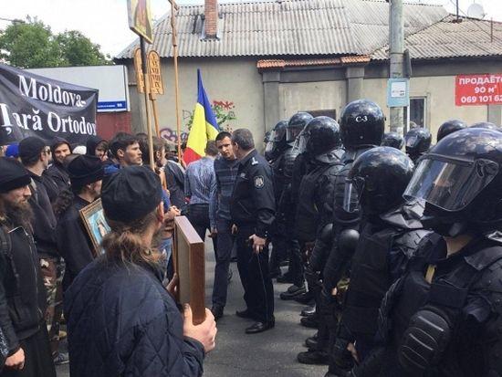 En Moldavie, des orthodoxes ont interrompu le déroulement d'une marche LGBT