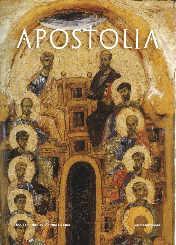 "Parution du n°111 (juin 2017) de la revue ""Apostolia"""