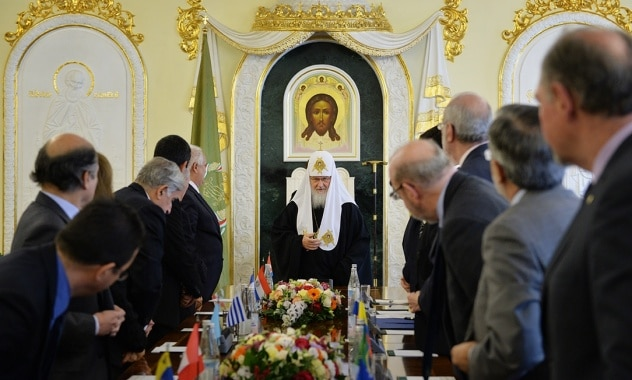 Rencontre du patriarche Cyrille de Moscou avec les chefs des missions diplomatiques de l'Amérique latine