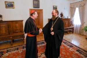 Rencontre du métropolite de Borispol et Brovary Antoine (Église orthodoxe d'Ukraine) et du nonce apostolique à Kiev, Mgr Claudio Gugerotti