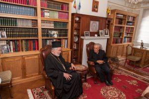 Visite de Konstantinos Zouraris, vice-ministre grec de l'Enseignement, de la Recherche et des Cultes au métropolite Athénagoras de Belgique