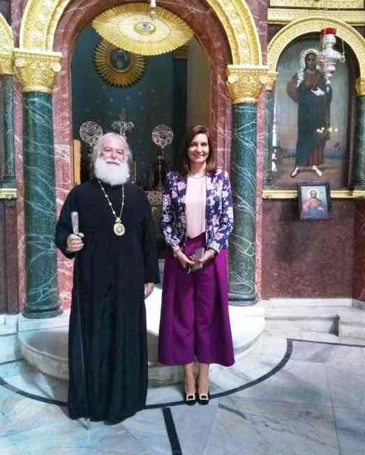 Rencontre de la ministre égyptienne de l'Immigration avec le pape d'Alexandrie Théodore II
