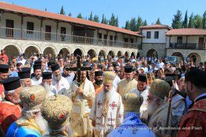 Fête de saint Cosmas d'Étolie au monastère de Koldkondas en Albanie