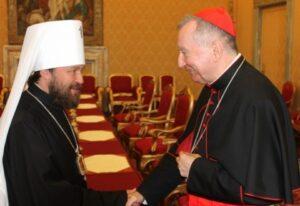 Le métropolite de Volokolamsk Hilarion : « La question de la rencontre avec le pape n'a pas été soulevée lors des discussions avec le secrétaire d'État du Vatican »