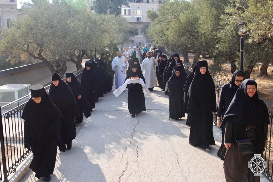 Fêtes au couvent russe du Mont des Oliviers à Jérusalem en l'honneur du bicentenaire de la naissance de l'archimandrite Antonin Kapoustine