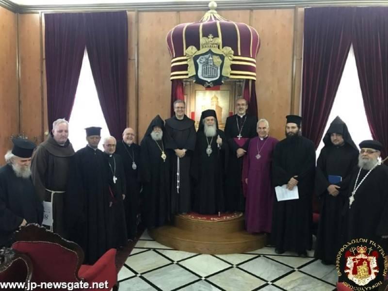 Déclaration conjointedes patriarches et des chefs des Églises de Jérusalem «Apprenez à faire le bien : recherchez le droit, mettez au pas l'oppresseur» (Isaïe 1,17)
