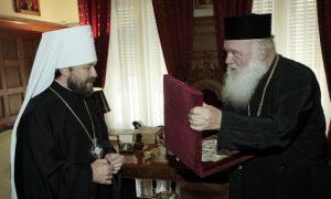 Le métropolite Hilarion de Volokolamsk a rencontré l'archevêque Jérôme d'Athènes
