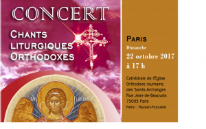 Concert de chants liturgiques orthodoxes à Paris