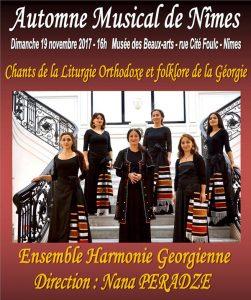 Un concert de l'ensemble Harmonie géorgienne à Nîmes dimanche 19 novembre