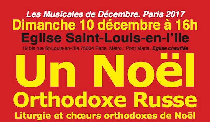 Concert «Un Noël orthodoxe russe» le 10 décembre à Paris