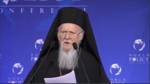Discours du patriarche œcuménique à la Xe « World policy conference » à Marrakech