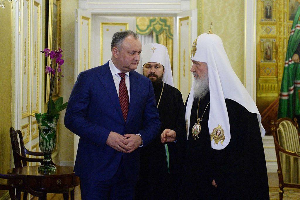 Le patriarche Cyrille accepte l'invitation du président moldave Dodon au Congrès mondial des familles en Moldavie