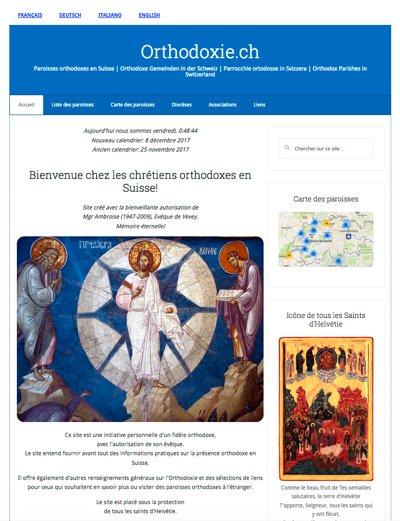 Suisse : la nouvelle formule du site Orthodoxie.ch