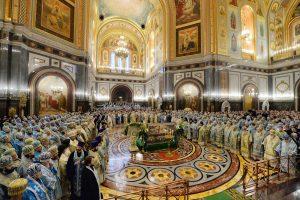 Liturgie du centenaire de l'intronisation de saint Tikhon de Moscou