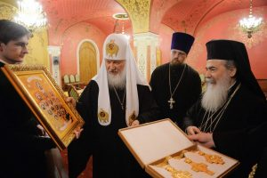 Le patriarche Cyrille de Moscou et de toute la Russie s'est entretenu avec le patriarche Théophile de Jérusalem