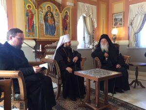 Le métropolite Hilarion de Volokolamsk en pèlerinage au Mont Athos