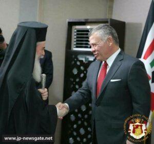 Le patriarche de Jérusalem Théophile a rencontré le roi de Jordanie