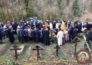 Les funérailles du père Placide Deseille au monastère Saint-Antoine-le-Grand