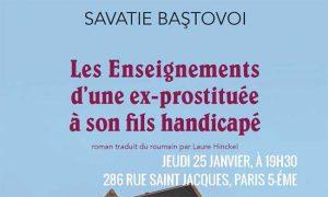 Littéramorphose : «Les enseignements d'une ex-prostituée à son fils handicapé» par Savatie Baștovoi