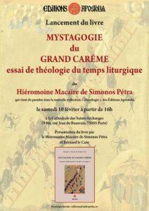 Programme de la visite du père Macaire de Simonos Pétra à Paris