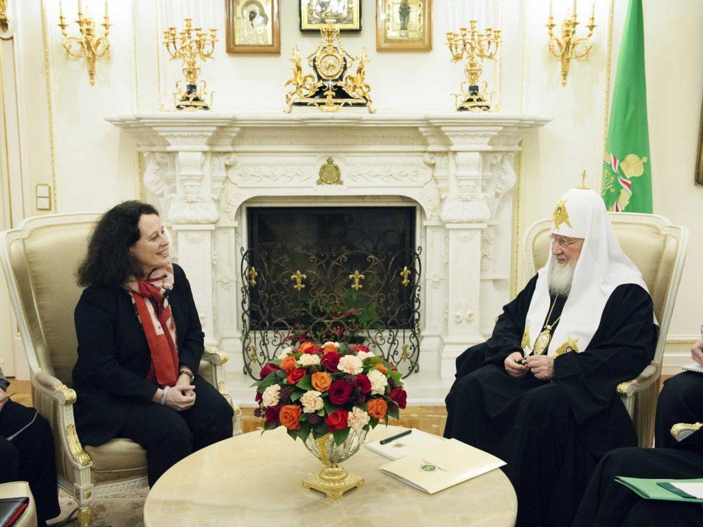 Le patriarche Cyrille a rencontré l'ambassadeur de France en Russie