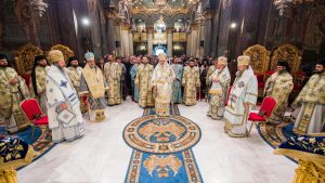 Liturgie de la Théophanie en la cathédrale patriarcale de Bucarest