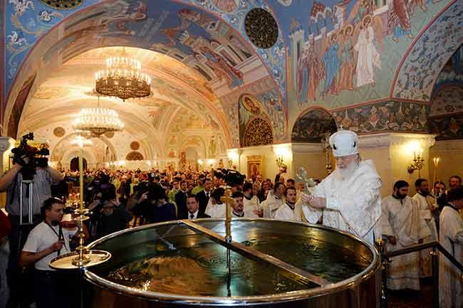 Grande bénédiction des eaux à Moscou