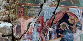 Fresque de Saint-Athanase à Leshnicë en Albanie