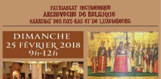 Affiche de la célébration du Dimanche de l'orthodoxie à Bruxelles