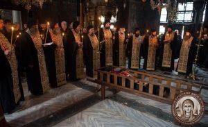Funérailles du père Cyrille (Veškovac), père spirituel du monastère athonite de Chilandar