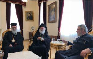 Les patriarches Théodore II d'Alexandrie et Jean X d'Antioche ont rendu visite à l'archevêque de Chypre Chrysostome II